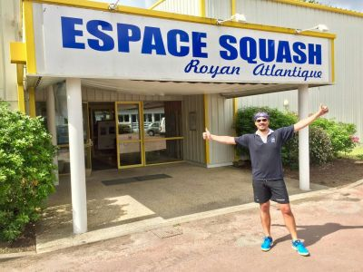 Romain Chatté in France checking out possible squash tour locations...