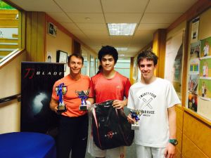 Junior Grade One Winner, Nathan Chan (centre) with Runner-Up, Max Kerr (right)